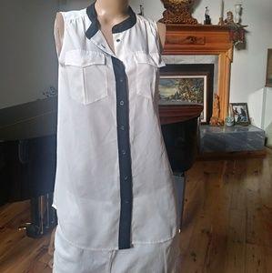 J. Crew. Size 6 sleeveless blouse. Sharp!